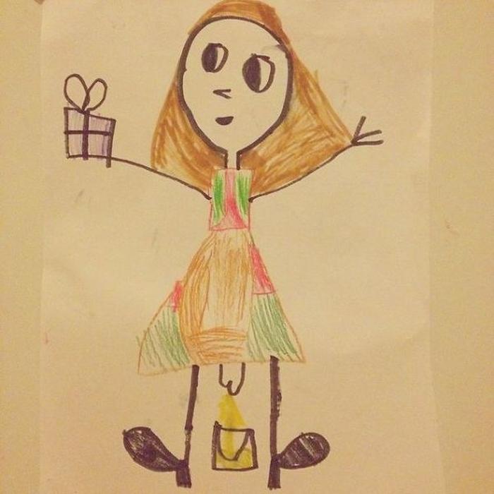 Прикольные рисунки нарисованные детьми, маме