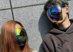 Японская компания выпустила солнцезащитные очки для всего лица